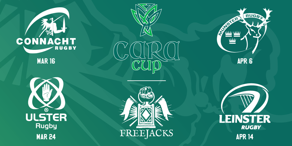 New England Free Jacks Announce Venues, Kickoff Times, & Tickets for the Cara Cup