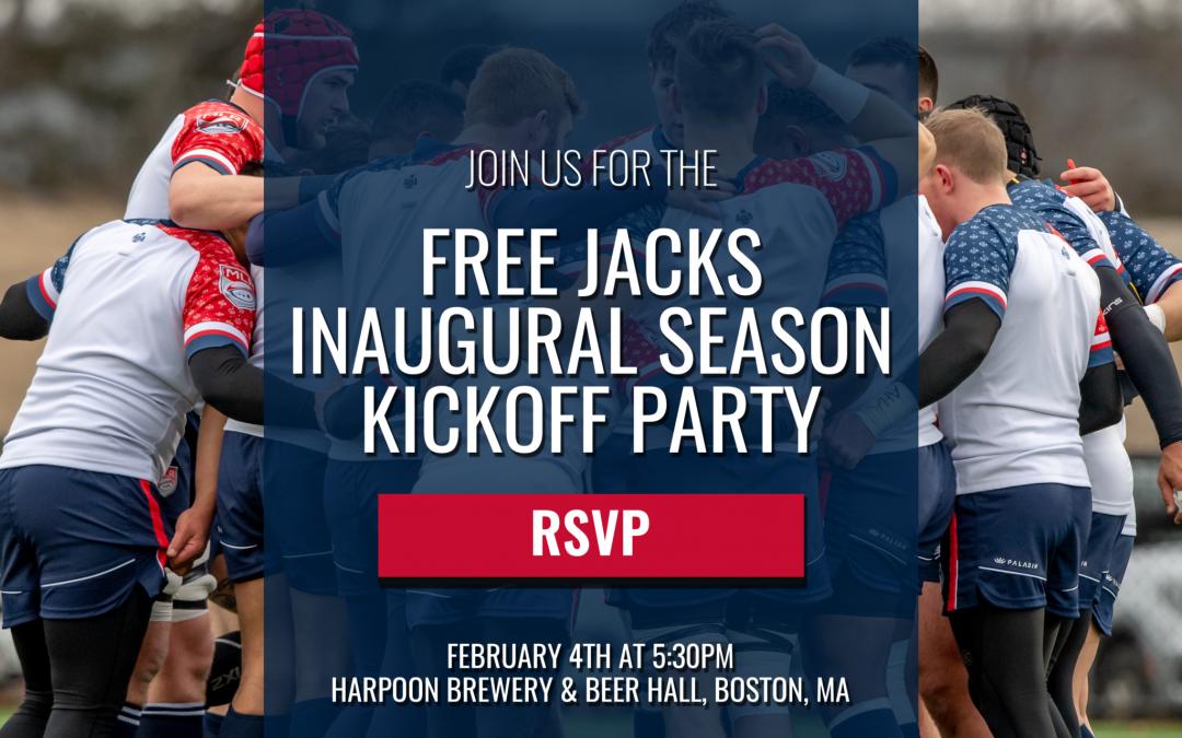 FREE JACKS INAUGURAL SEASON KICKOFF PARTY