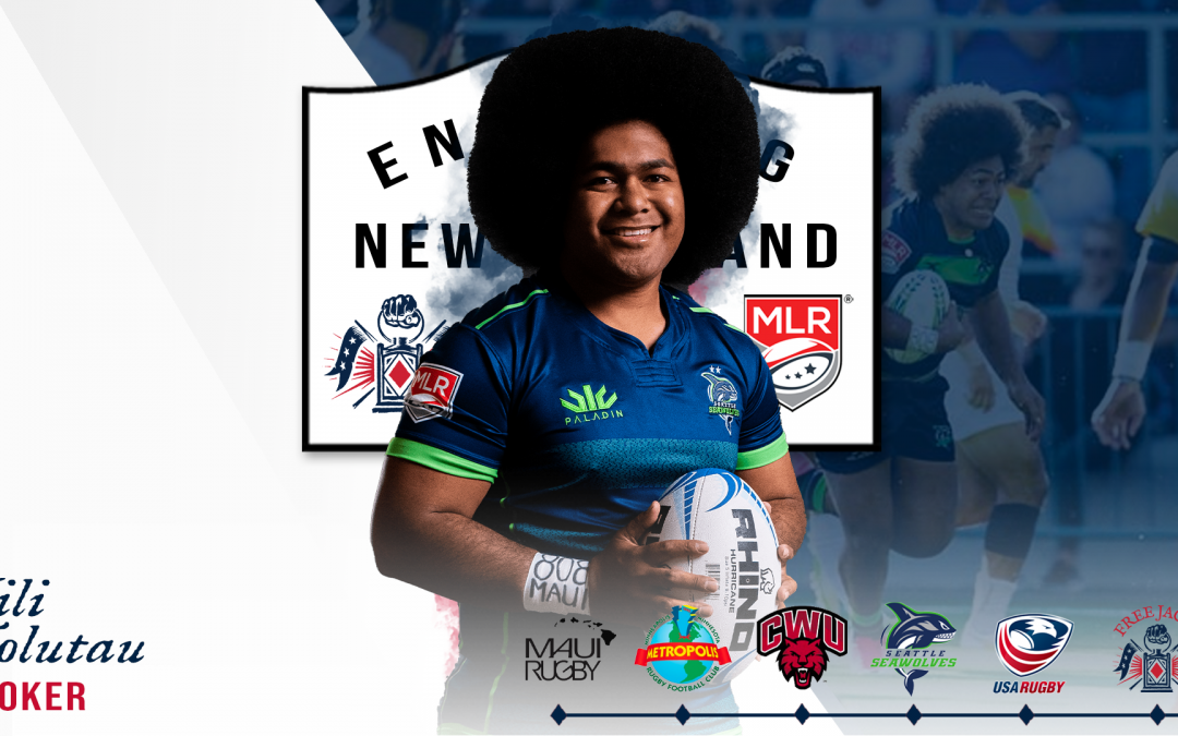 FREE JACKS WELCOME BREAKOUT MLR HOOKER, VILI TOLUTA'U, TO NEW ENGLAND FOR THE 2021 MAJOR LEAGUE RUGBY SEASON