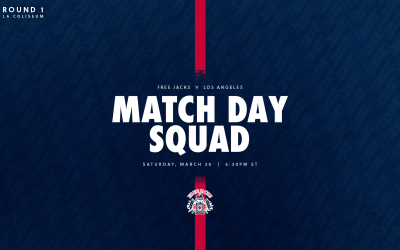 New England Free Jacks Match Squad Named for Season Opener Against Los Angeles