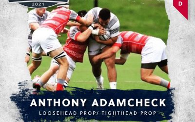 FREE JACKS DRAFT ANTHONY Adamcheck IN THE SECOND ROUND OF MAJOR LEAGUE RUGBY COLLEGIATE DRAFT 2021
