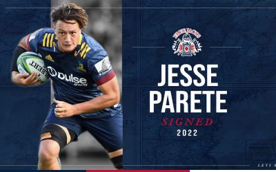 Highlanders And Chiefs Loose Forward, Jesse Parete, Joins The Free Jacks On A Two Year Contract