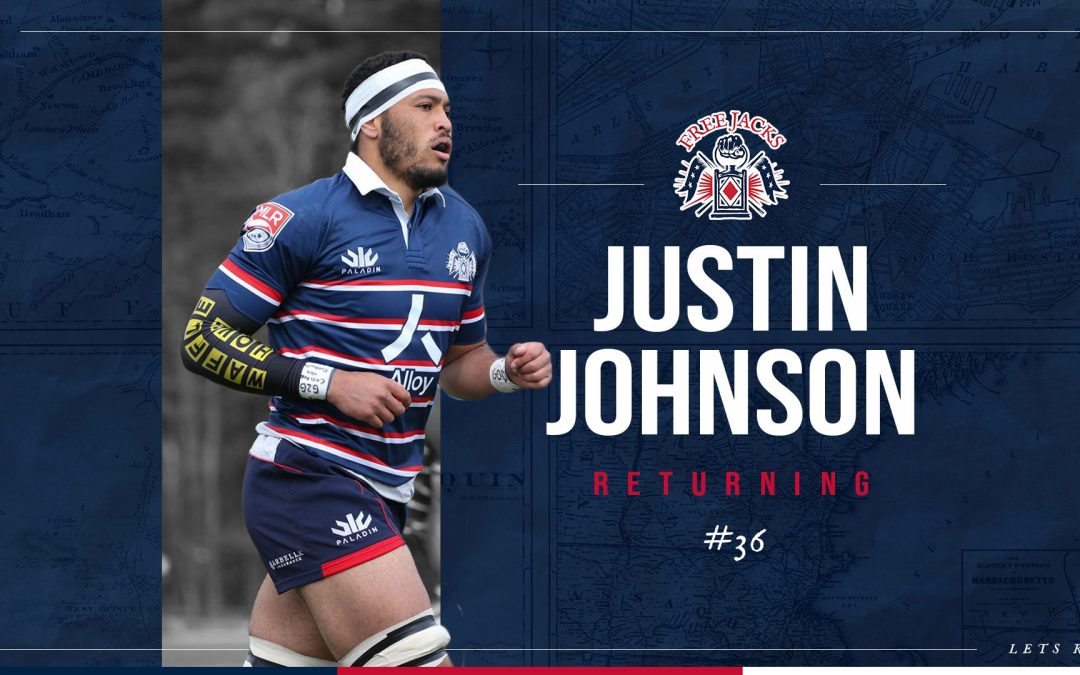 American Born Flanker, Justin Johnson, Boots Up For Second Year With Free Jacks